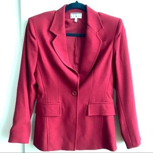 KENAR Red One button blazer New without Tags P4